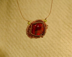 This is a wireworking piece Marsha did a while ago.